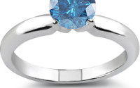 perfect blue diamond ring