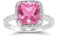 pink diamond rings artificial color