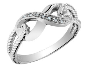 silver promise ring design
