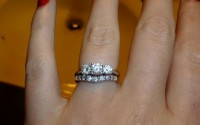 three stone rings for wedding engagement