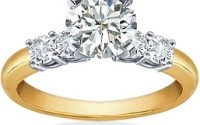 yellow gold engagement ring for warmth